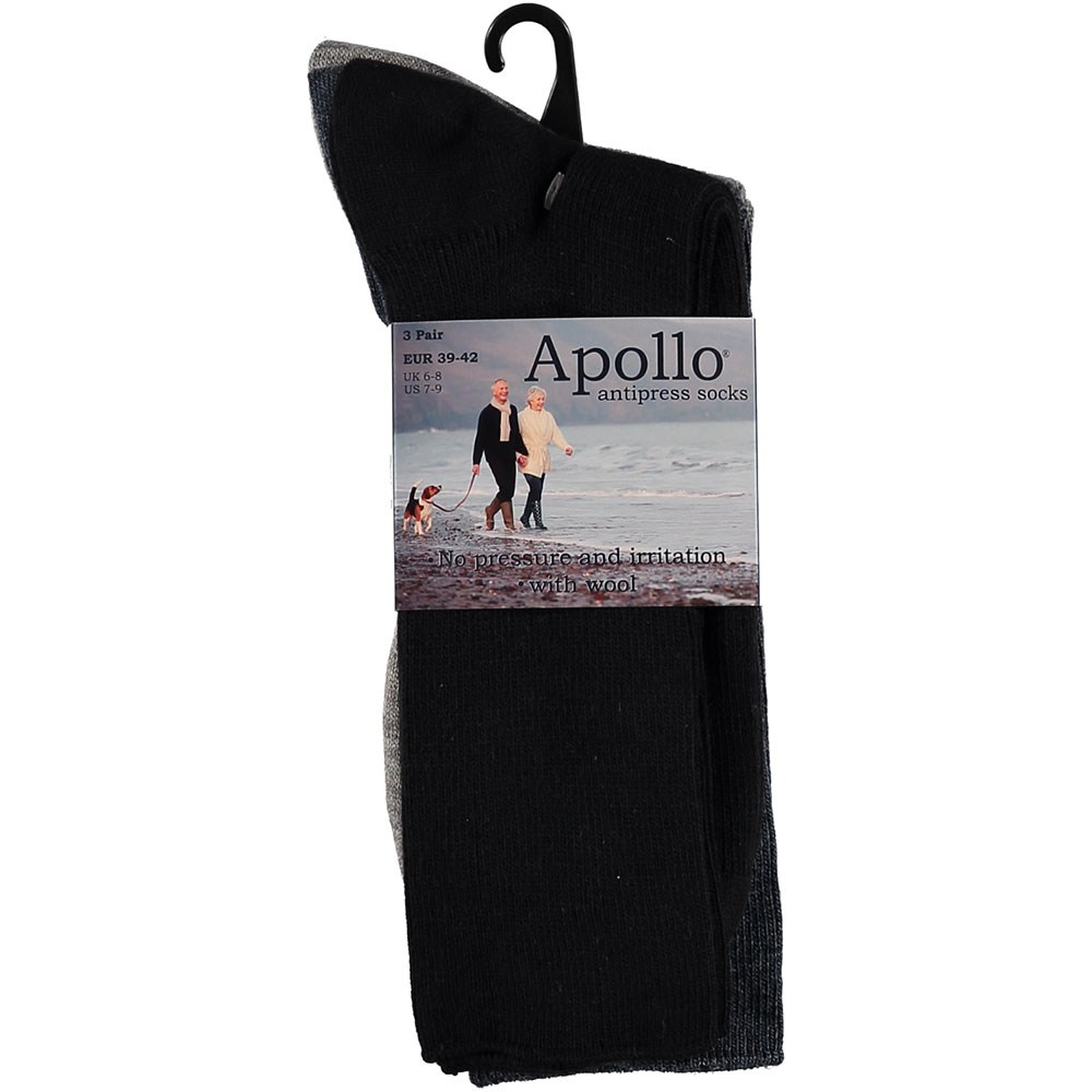 5f285bd45dc Apollo Anti-press Sokken 3-Pack Donker - Been + Body